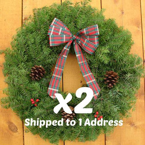 Cabin Plaid Wreath - 18