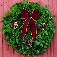 Burgundy Cone Wreath - 24