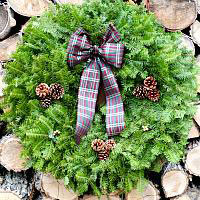 Burgundy Plaid Wreath - CLEARANCE - REG. PRICE $39.00