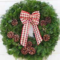 Dad's Flannel Shirt Wreath