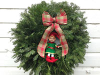 Elf in a Wreath