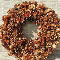 Fall Acorn Light Wreath or Centerpiece