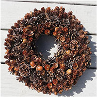 Fall Acorn Weathered Wreath or Centerpiece