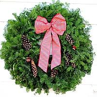 The Country Gingham Wreath