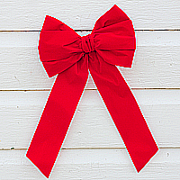 Traditional Red Velvet Bow