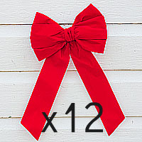 12 - Traditional Red Velvet Bows
