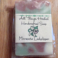 Handmade Ladyslipper Bar Soap - SHIPPED WITH A WREATH IN SAME BOX