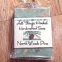 Handmade Pine Bar Soap - SHIPPED WITH A WREATH IN SAME BOX