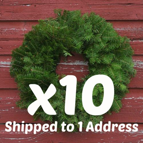 "18"" Wreaths Undecorated x10 ($13.00 each)"