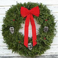 Traditional Wreath - 36 inch (Includes Oversized Fee & Bow Tails are shorter in 2018)