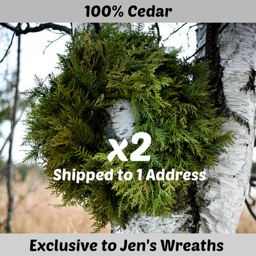 Cedar Wreath PAIR - 18 inch   ($27 each with this Deal)