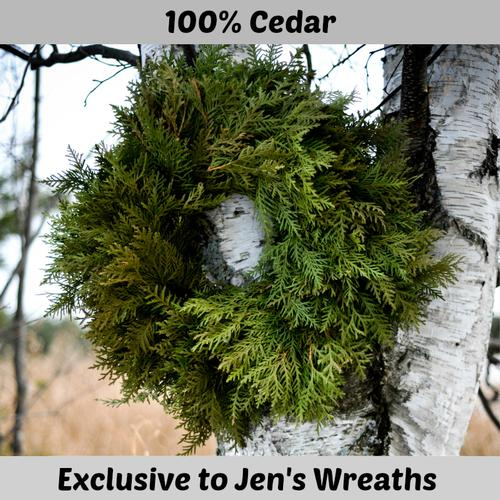 Cedar Wreath - Undecorated - 18 inch